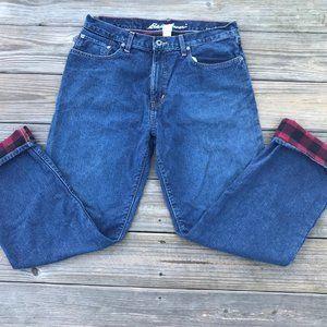 Eddie Bauer Men Jeans Blue Denim Relaxed Fit 34X32